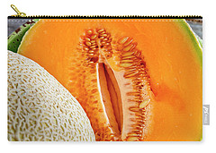 Fresh Cantaloupe Melon Carry-all Pouch by Teri Virbickis