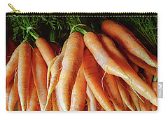 Fresh Carrots From The Summer Garden Carry-all Pouch by GoodMood Art