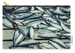 Carry-all Pouch featuring the photograph Fresh Caught Herring Fish by Edward Fielding