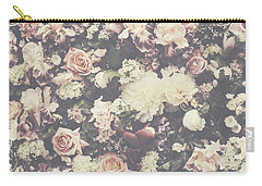 Fresh Flower Pattern Background Carry-all Pouch