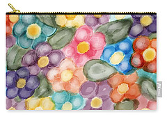 Fresh Flowers Carry-all Pouch by Paula Brown