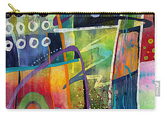Carry-all Pouch featuring the painting Fresh Jazz by Hailey E Herrera