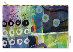 Carry-all Pouch featuring the painting Fresh Jazz In A Square 2 by Hailey E Herrera