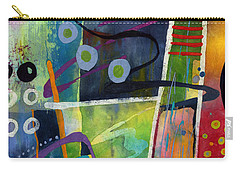 Carry-all Pouch featuring the painting Fresh Jazz In A Square by Hailey E Herrera
