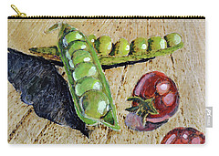 Fresh Peas And Cherry Tomatoes Carry-all Pouch