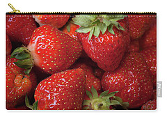 Carry-all Pouch featuring the photograph Fresh Picked Strawberries by Ann Jacobson
