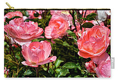 Carry-all Pouch featuring the photograph Fresh Pink Roses by Glenn McCarthy Art and Photography