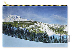 Carry-all Pouch featuring the photograph Fresh Snow At Mount Rainier by Dan Mihai