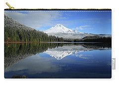 Fresh Snow On Mount Hood Carry-all Pouch by Lynn Hopwood