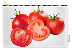 Carry-all Pouch featuring the painting Fresh Tomatoes by Gabriella Weninger - David