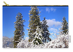 Carry-all Pouch featuring the photograph Fresh Winter Solitude by Will Borden