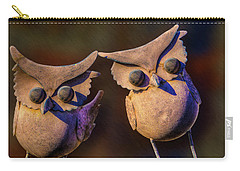 Carry-all Pouch featuring the photograph Frick And Frack by Paul Wear
