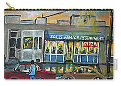 Friday Night At Sal's Carry-all Pouch by Rita Brown