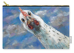 Carry-all Pouch featuring the painting Fried What by Billie Colson