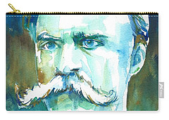 Friedrich Nietzsche Watercolor Portrait.1 Carry-all Pouch