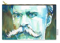 Friedrich Nietzsche Watercolor Portrait.1 Carry-all Pouch