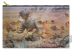 Friend To Friend Monument Gettysburg Battlefield Carry-all Pouch by Randy Steele
