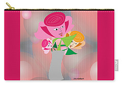 Friendly Flowers Carry-all Pouch by Iris Gelbart