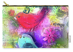 Carry-all Pouch featuring the digital art Friends Always by Claire Bull