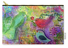 Carry-all Pouch featuring the painting Friends Always Together by Claire Bull