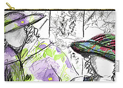 Carry-all Pouch featuring the painting Friends And Flowers by Cathie Richardson