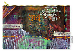 Carry-all Pouch featuring the mixed media Friends Forever by Angela L Walker