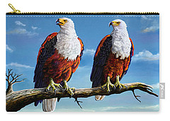 Friends Hanging Out Carry-all Pouch by Anthony Mwangi