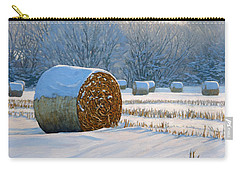 Frigid Morning Bales Carry-all Pouch