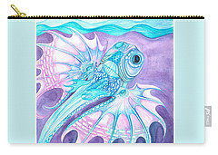 Carry-all Pouch featuring the painting Frilled Fish by Adria Trail