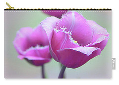 Carry-all Pouch featuring the photograph Fringe Tulips by Jessica Jenney