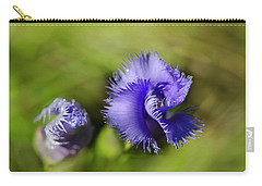 Carry-all Pouch featuring the photograph Fringed Gentian by Ann Bridges