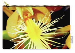 Fringed Yellow Orchid Carry-all Pouch