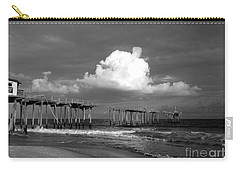 Frisco Pier 2015 B And W  Carry-all Pouch