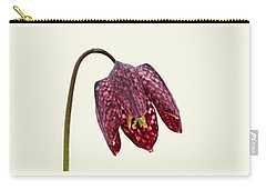 Fritillaria Meleagris Cream Background Carry-all Pouch
