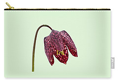 Fritillaria Meleagris Green Background Carry-all Pouch