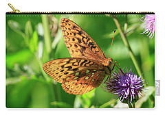 Carry-all Pouch featuring the photograph Fritillary Butterfly by Gary Hall