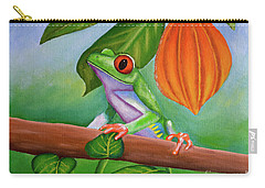 Frog And Cocoa Pod Carry-all Pouch