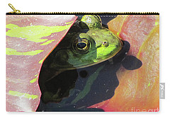 Frog Between Lily Pads Carry-all Pouch