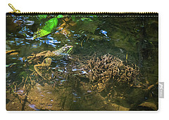 Carry-all Pouch featuring the photograph Frog Days Of Summer by Bill Pevlor