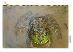 Carry-all Pouch featuring the photograph Frog Of Lake Redman by Donald C Morgan