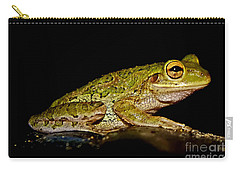 Carry-all Pouch featuring the photograph Cuban Tree Frog by Olga Hamilton
