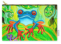 Frog Snake And Gecko In The Rainforest Carry-all Pouch