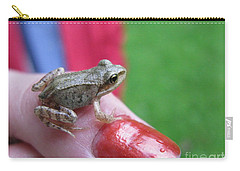 Carry-all Pouch featuring the photograph Frog The Prince by Ausra Huntington nee Paulauskaite