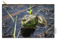 Carry-all Pouch featuring the photograph Frog  by Trace Kittrell