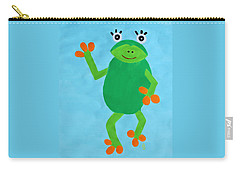 Carry-all Pouch featuring the painting Froggie by Deborah Boyd