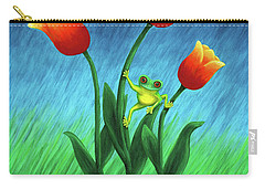Froggy Tulips Carry-all Pouch