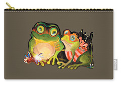 Frogs Transparent Background Carry-all Pouch