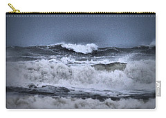 Carry-all Pouch featuring the photograph Frolicsome Waves by Jeff Swan
