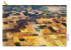 Carry-all Pouch featuring the digital art From Above by Michelle Calkins