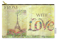 From Paris With Love Eiffel Tower Carry-all Pouch